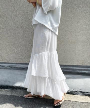 DOUDOU(ドゥドゥ) ティアードスカート