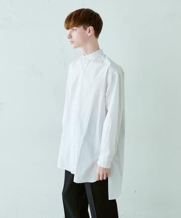 Lui's(ルイス) 120双スタンドロングスリットシャツ