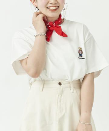 CPCM(シーピーシーエム) 【Teddy bear】テディベア赤シャツT