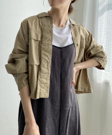CAPRICIEUX LE'MAGE(カプリシュレマージュ) 〈WEB限定〉バックギャザーシャツジャケット