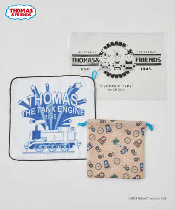 CIAOPANIC TYPY(チャオパニックティピー) 【きかんしゃトーマス】タオルハンカチ・巾着セット