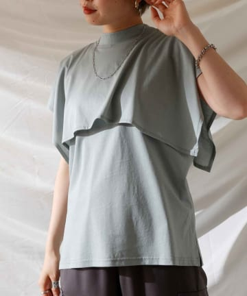 Thevon(ゼヴォン) シルケットケープTシャツ