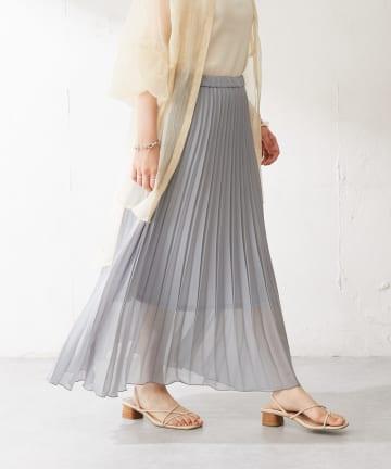 Discoat(ディスコート) 【WEB限定】カラープリーツスカート