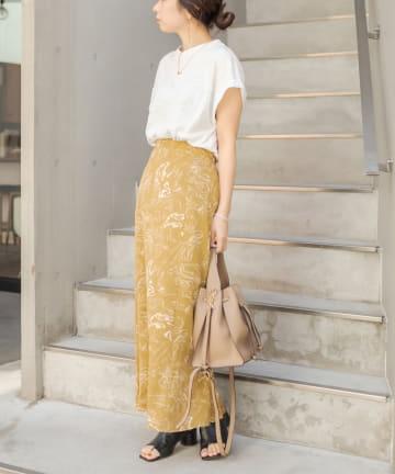 CAPRICIEUX LE'MAGE(カプリシュレマージュ) 〈上下セットアイテム〉Tシャツ×柄スカートSET