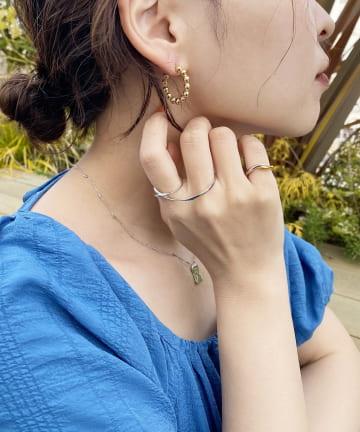 natural couture(ナチュラルクチュール) つぶつぶフープピアス