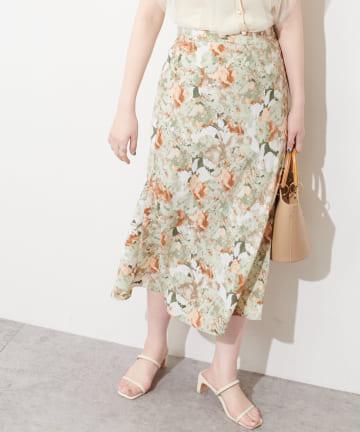 natural couture(ナチュラルクチュール) 水彩アートフラワースカート