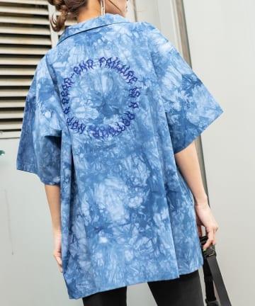 RASVOA(ラスボア) オーバータイダイ刺繍シャツ