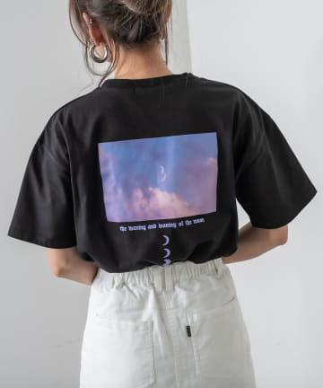 RASVOA(ラスボア) MOON Tシャツ