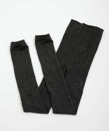 3COINS(スリーコインズ) 綿混無地レギンスAg+XL