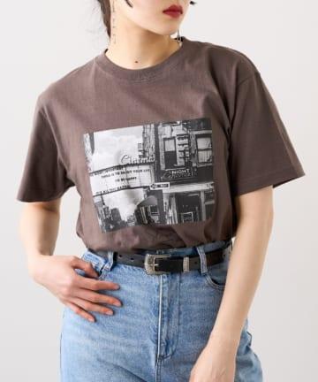 RASVOA(ラスボア) シティフォトグラフTシャツ