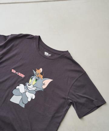 Chez toi(シェトワ) 【WEB限定】トム&ジェリー ナカヨシTシャツ