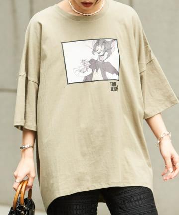Chez toi(シェトワ) 【WEB限定】トム&ジェリー デザインビッグTシャツ