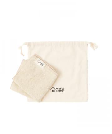 russet(ラシット) 【cocochiena】巾着付きハンドタオル(N-001)
