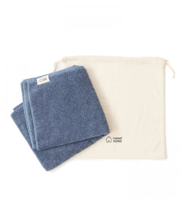 russet(ラシット) 【cocochiena】巾着付きバスタオル(N-003)