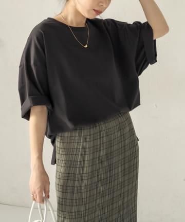 CAPRICIEUX LE'MAGE(カプリシュレマージュ) ヨーク切替BIG Tシャツ