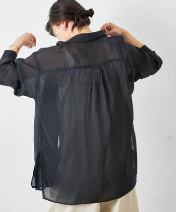 COLLAGE GALLARDAGALANTE(コラージュ ガリャルダガランテ) 【重ねてシンプルがうまいに】シアーオーバーシャツ