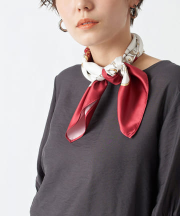 un dix cors(アンディコール) 【スカーフの人気柄】チェーン柄スカーフ
