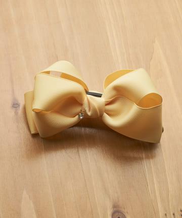3COINS(スリーコインズ) ストーン付きグログランリボンバナナ
