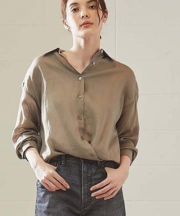 OUVRAGE CLASSE(ウヴラージュクラス) ラミーカシュクールシャツ