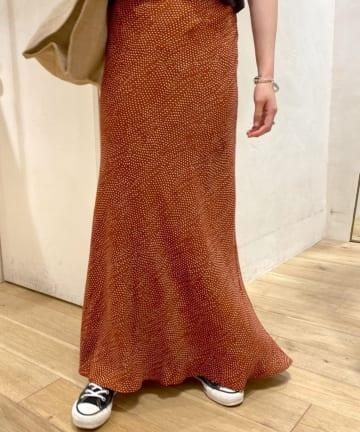 SHENERY(シーナリー) レーヨンプリントマーメイドマキシスカート