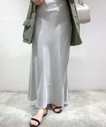 SHENERY(シーナリー) フィブリルシャンブレーマーメイドマキシスカート