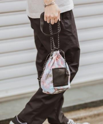 CIAOPANIC TYPY(チャオパニックティピー) タイダイナイロン巾着バッグ