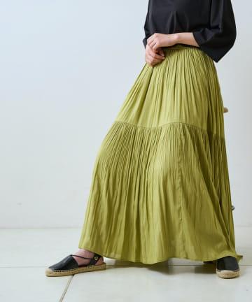 LIVETART(リヴェタート) 【女性らしい上品シルエット】プリーツロングスカート