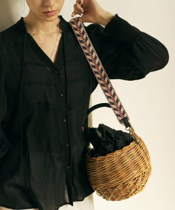 GALLARDAGALANTE(ガリャルダガランテ) 【大草直子さんコラボ】ストラップ付きラタンバッグ