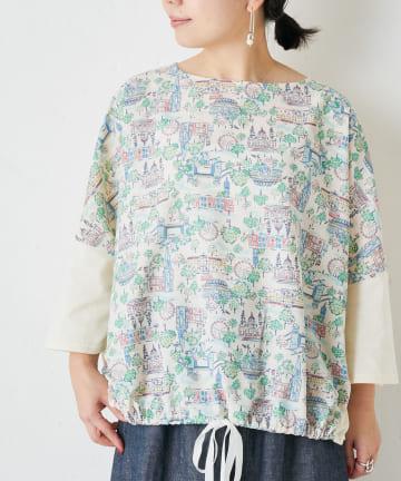 BEARDSLEY(ビアズリー) 風景イラストプリントTシャツ