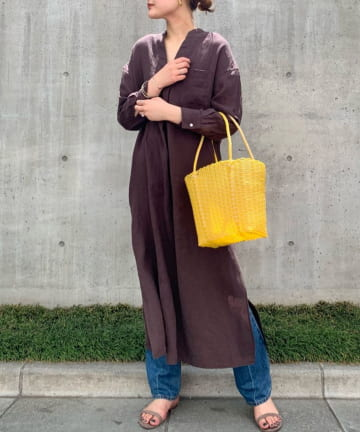SHENERY(シーナリー) スキッパーリネンロングドレス