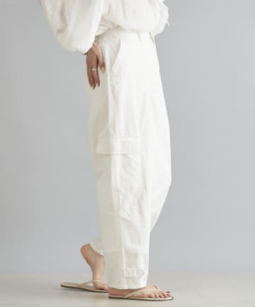 DOUDOU(ドゥドゥ) 裾タブベイカーパンツ