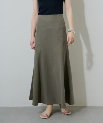 Whim Gazette(ウィム ガゼット) グログランマーメイドフレアスカート