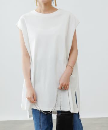 COLONY 2139(コロニー トゥーワンスリーナイン) 【WEB・一部店舗限定】フレンチスリーブロングTシャツ