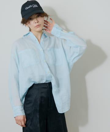 Whim Gazette(ウィム ガゼット) ラミー製品染めシャツ