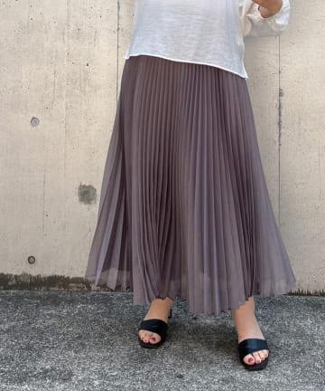 BONbazaar(ボンバザール) 《動画付き》ソフトオーガンザプリーツスカート