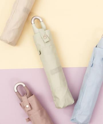 ASOKO(アソコ) <カラビナ付き>くすみカラー折りたたみ傘