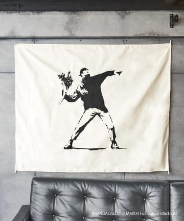 ASOKO(アソコ) Banksy's Graffiti ファブリックポスター(L)