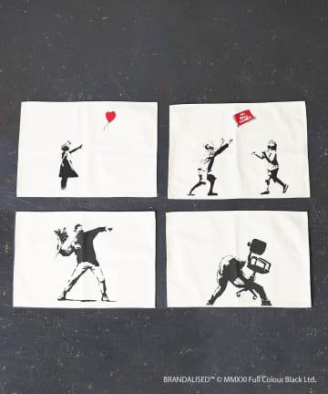 3COINS(スリーコインズ) 【ASOKO】Banksy's Graffiti ランチョンマット4枚セット
