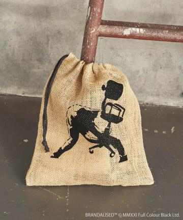 3COINS(スリーコインズ) 【ASOKO】Banksy's Graffiti ジュート巾着