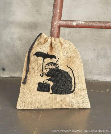 ASOKO(アソコ) Banksy's Graffiti ジュート巾着