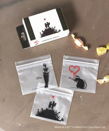 ASOKO(アソコ) Banksy's Graffiti ジップバッグセット(S)