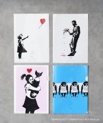 ASOKO(アソコ) Banksy's Graffiti クリアファイル4枚セット