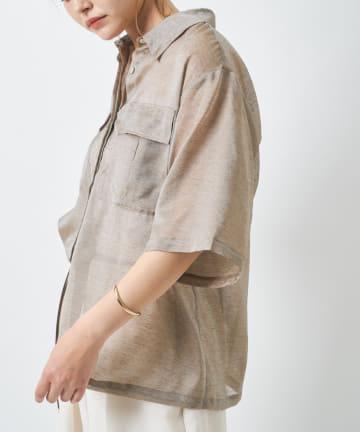 COLLAGE GALLARDAGALANTE(コラージュ ガリャルダガランテ) 【涼しいままにヘルシーな仕上がり】シアーカーゴシャツ