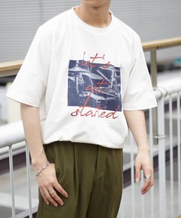 Discoat(ディスコート) タックイン風プリントTシャツ