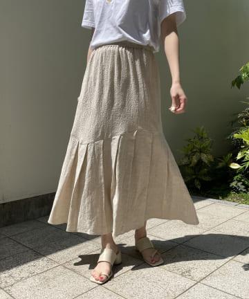 CAPRICIEUX LE'MAGE(カプリシュレマージュ) タックマーメイドスカート