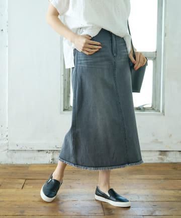 pual ce cin(ピュアルセシン) 【WEB限定】デニムマーメイドスカート