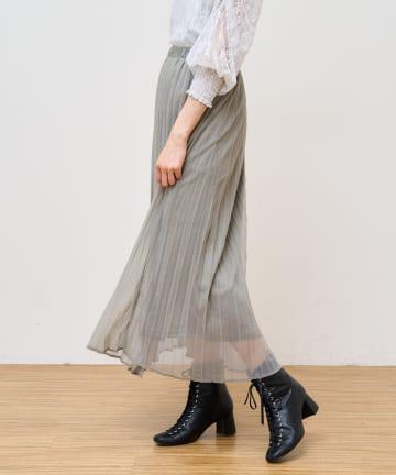 NICE CLAUP OUTLET(ナイスクラップ アウトレット) ラメシアープリーツスカート