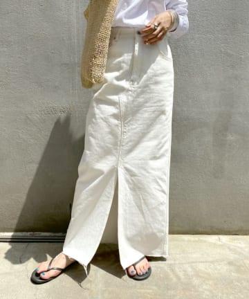 SHENERY(シーナリー) カットオフデニムタイトマキシスカート