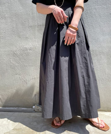 Omekashi(オメカシ) 【5/1〜セットフェア対象】タックフレアロングスカート