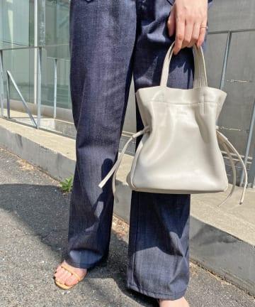 Omekashi(オメカシ) ROROLレザーミニ巾着トート